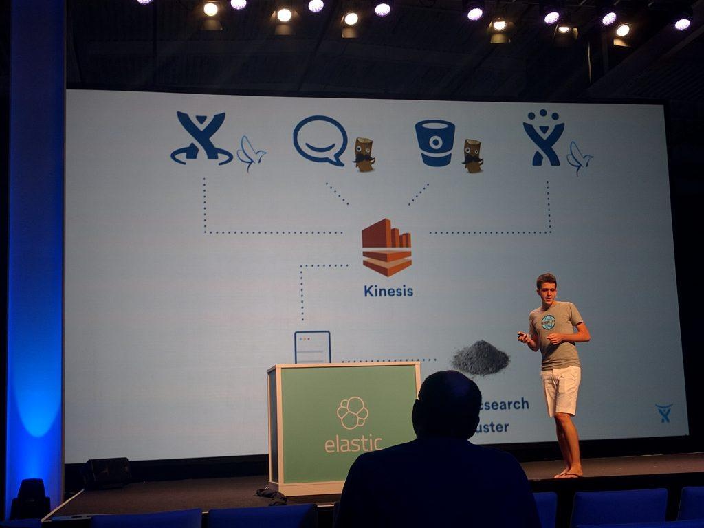 Atlasssian presented on their logging as a (internal) service, using Logstash and Fluentd.