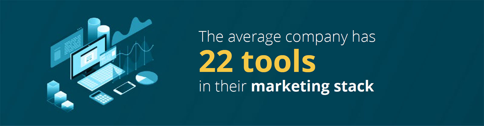 The average company has 22 tools in their marketing stack