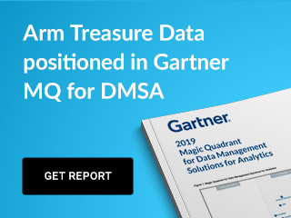 Arm Treasure Data positioned in Gartner MQ for DMSA - Download Report